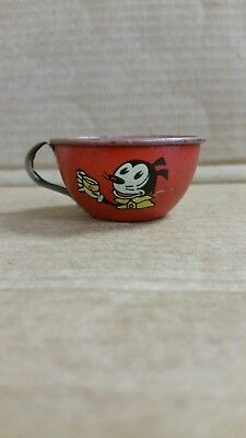 Mickey Mouse Tin Cup J Chein Co. Vintage Made in U.S.A.