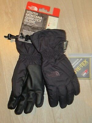 The North Face Youth Montana Etip Gore-Tex Gloves Black Large