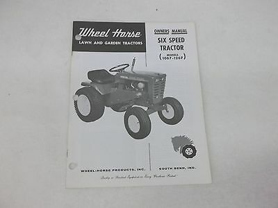 WHEEL HORSE TRACTOR Model 1056 Owners With Parts List Manual - $6.00