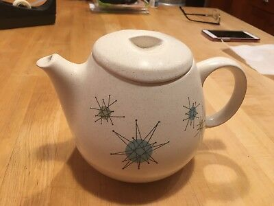 Franciscan Starburst Teapot W/lid Small Chip On Spout