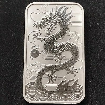 2018 P Australia 1 OZ. .9999 Silver Proof-Like Dragon Bar $1.COIN Low~Mintage !!