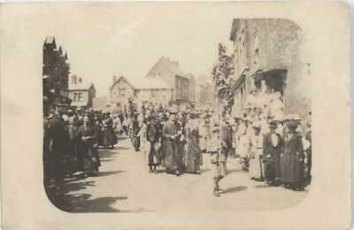 Wirral Neston - Ladies' Club Procession In Front Of Cross - R/p Posted 1922.
