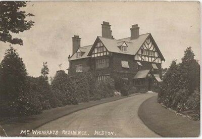 WIRRAL NESTON - Mr WHINERAY'S RESIDENCE 'LEIGHTON COURT' REAL PHOTO PRE 1918.