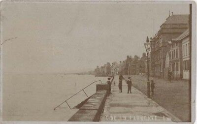 Wirral Parkgate - The Parade High Tide - Edwin Withers Real Photo Pre 1910.