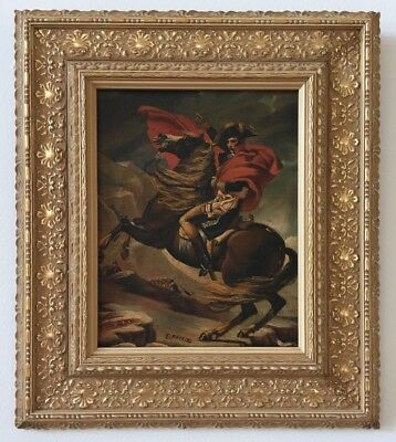 19th C. OIL PAINTING OF NAPOLEON BONAPARTE- ISIDORE PATROIS, FRENCH (1815-1884)