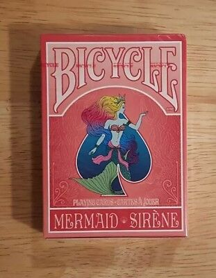 Bicycle Mermaid Sirene Playing cards, LIMITED RELEASE 2018 NEW UNOPENED!!