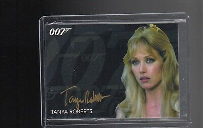 James Bond Archives Final Edition Tanya Roberts Gold Autographed card