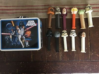 Pez Dispenser Lot - Star Wars Theme - 11 Dispensers and tin box
