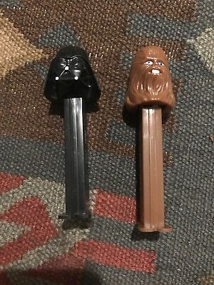 Star Wars Pez Lot Darth Vader & Chewbacca