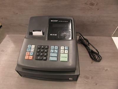 * Sharp Electronic Cash Register XE-A106 No Drawer Key Tested