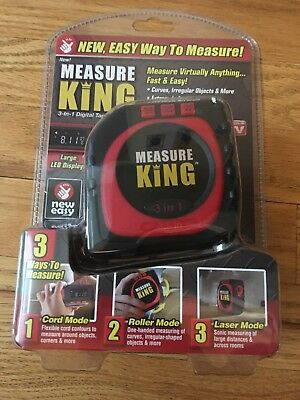 Measure King As Seen OnTV 3-in-1 Digital TapeMeasure Plastic/Metal/LCD MK-MC12/4