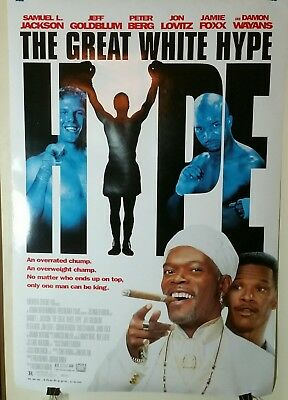 THE GREAT WHITE HYPE MOVIE POSTER 2 Sided ORIGINAL 27x40 SAMUEL L. JACKSON