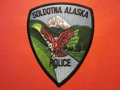 Collectible Alaska Police Patch, Soldotna, New