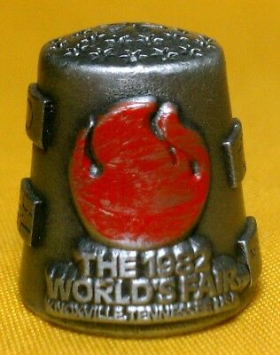 NICHOLAS GISH Pewter 1982 WORLD'S FAIR Knoxville TN Tennessee THIMBLE Signed