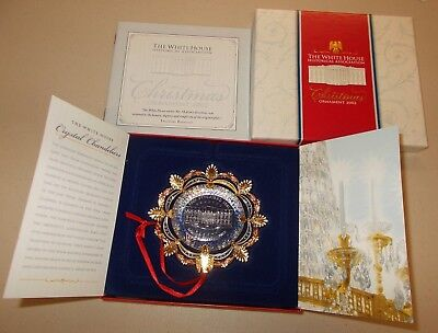 The White House Historical Association 2002 Christmas Ornament, Box, & Booklet