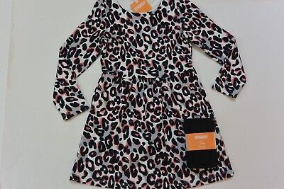 NWT Gymboree 10/12 Kitty in Pink Leopard Print Dress 10 Black CableTights 10/12