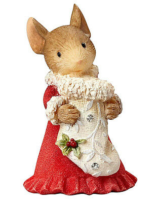 Heart Of Christmas~Hahn~Mouse W Stocking~Figurine~Filled With Love~Nib~4057652