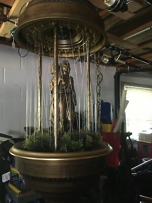Vintage Hanging Mineral Oil Rain Motion Lamp Nude Greek Goddess Lady Works.