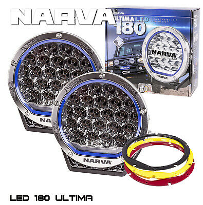 Pair Narva Ultima 7 Inch 180Mm Led Driving Lights Lamps 120W Offroad New 71730