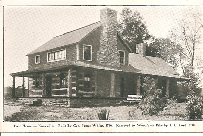 Vintage Postcard - First House in Knoxville, TN - Built by Gen James White 1786