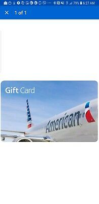 American Airlines  Gift Card - $50 - Fast Email delivery