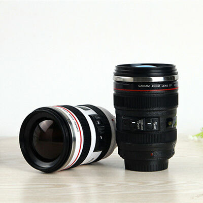 Camera Lens Thermos Cup Coffee Tea Travel Stainless Steel 24-105mm Lens Cups