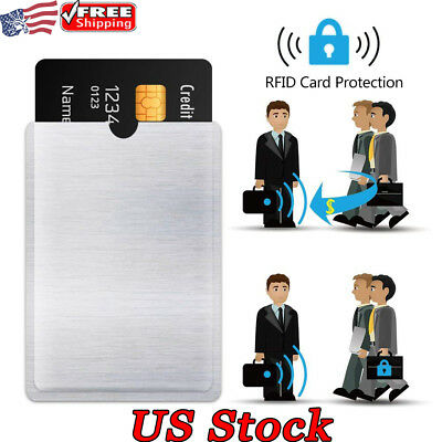 4-20 RFID Wallet Credit Card Protector Blocking Sleeve Bank Card Holder Covers