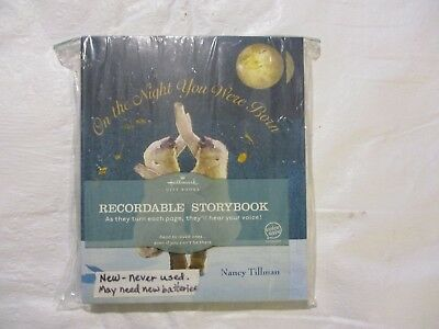 Hallmark ON THE NIGHT YOU WERE BORN Recordable Storybook by Nancy Tillman NEW
