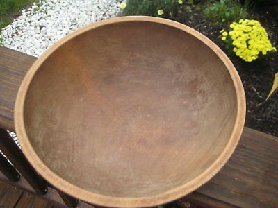 Antique Primitive Wood Dough Bowl Hand carved