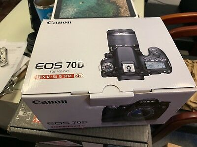 NEW Canon EOS 70D DSLR Camera with 18-55mm STM f/3.5-5.6 Lens