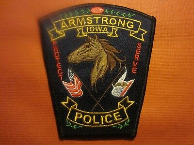 Collectible Iowa Police Patch,Armstrong,New