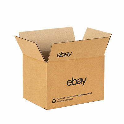 "New Official eBay-branded Shipping Boxes with Blue 2-Color Logo 6"" x 4"" x 4"""