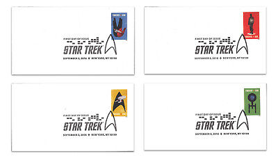 USA 2016 Star Trek Set of 4 First Day Covers FDC
