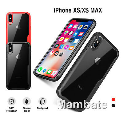For iPhone XS OR XS MAX Ultra Hybrid Bumper Shockproof Case Protective Cover