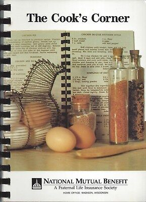 Madison Wi 1993 National Mutual Benefit The Cook's Corner Cook Book * Wisconsin