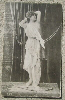 Early 1900's RPPC Photo Postcard Unnamed Actress on Stage #277