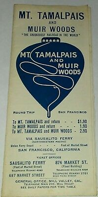 "C. 1915 Mt. Tamalpais & Muir Woods California ""Crookedest Railroad"" Brochure !!"