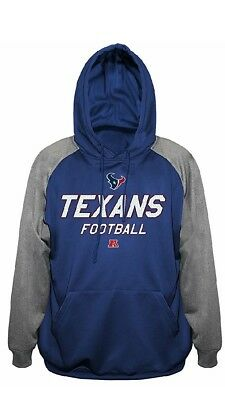 Nice HOUSTON TEXANS NFL Men's Blue Hooded 14 Zip Fleece Jacket Big  for cheap