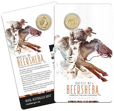 Australia 2017 Battle of Beersheba Light Horsemen $1 One Dollar UNC Coin RAM