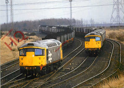 Picture Postcard- CLASS 26 MGR 26006 AND 26002 @ COCKENZIE POWER STATION