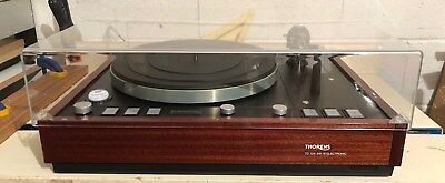 Thorens TD 126 MK III REST ON TOP DUSTCOVER replacement new clear acrylic