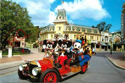 Picture Postcard:-Disneyland, Town Square On The Fire Engine