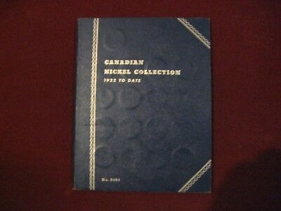 1922 - 1960 Canada 5 Cents Nickels Coin Collection Of 40 In Whitman Coin Book