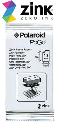 Polaroid Zink 10 Sheets PoGo Photo Paper 2 X 3 Fit Z2300 SNAP Mobile (SEALED)