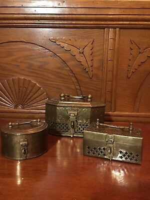 Vintage Brass Boxes