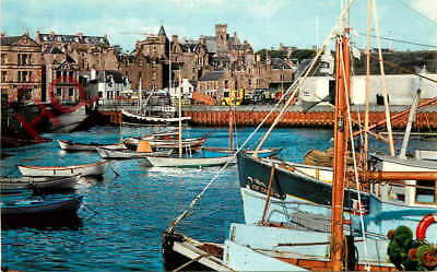 Picture Postcard: Lerwick Harbour, Shetland, Towards Town Hall [Colourmaster]