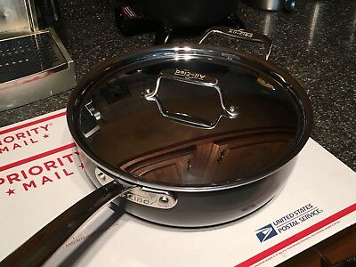 """All-Clad LTD 4 Qt Extra Deep (almost 4"""") Saute Pan New Without The Box"""