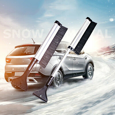 Extendable Car SUV Auto Ice Scraper Shovel Snow Brush Removal Cleaning Tool New