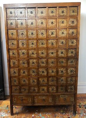 Antique Chinese Wooden Medicine Cabinet - Excellent Condition