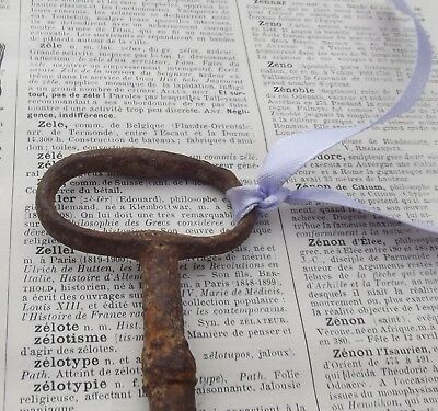 Large Antique French Iron Key Large Chateau Gate Door Key 1880